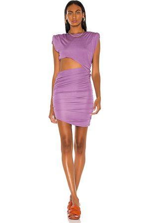 RONNY KOBO Vestido kyle en color morado talla L en - Purple. Talla L (también en XS, S, M).
