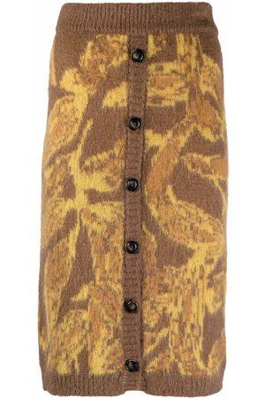 Pinko Mujer Faldas - Falda tejida con motivo abstracto