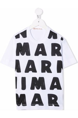 Marni Kids Logo-print cotton T-shirt