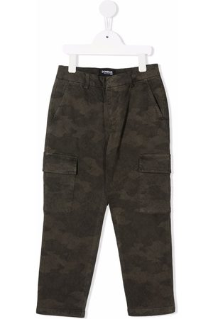 Dondup Kids Camouflage-print cargo trousers