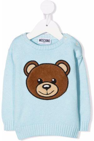Moschino Kids Jersey con bordado Teddy Bear