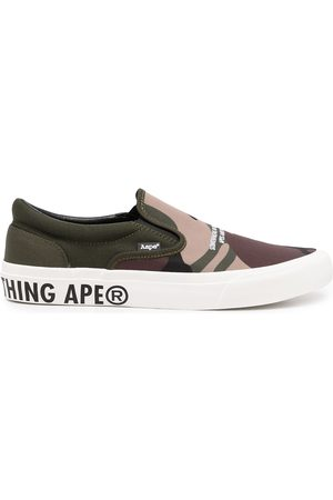 AAPE BY *A BATHING APE® Logo-print slip-on sneakers