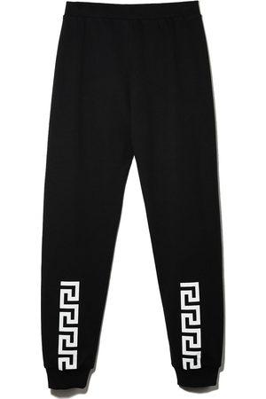 Versace Kids Pants con estampado Greca
