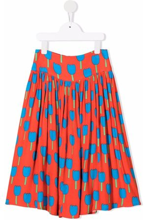Stella McCartney Floral-print pleated skirt