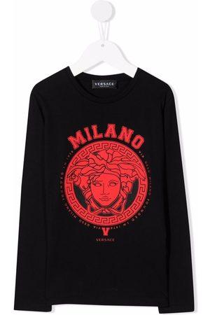 Versace Kids Niño Con capucha - Medusa-print crew neck sweatshirt