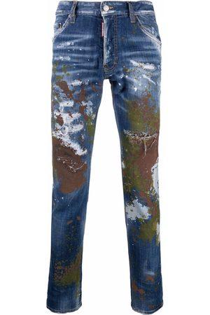 Dsquared2 Vaqueros slim con efecto de salpicaduras de pintura
