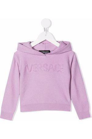Versace Kids Sudadera con capucha y logo bordado