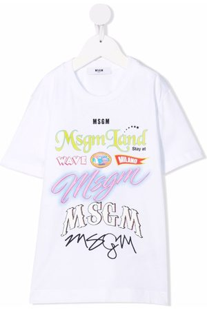 Msgm Graphic slogan t-shirt