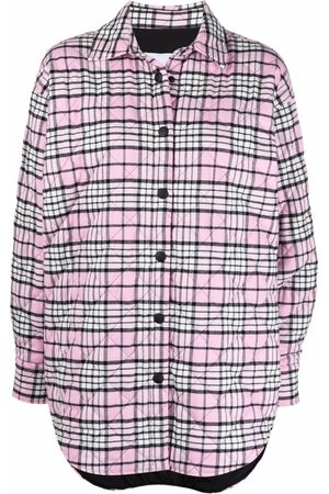 Msgm Quilted check shirt jacket