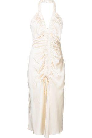 Nicholas Mujer Cóctel - Vestido drapeado con cuello halter
