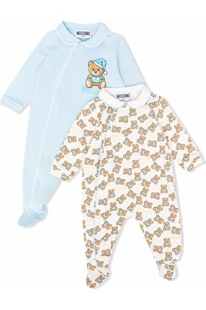 Moschino Ropa - Teddy Bear motif babygrow set