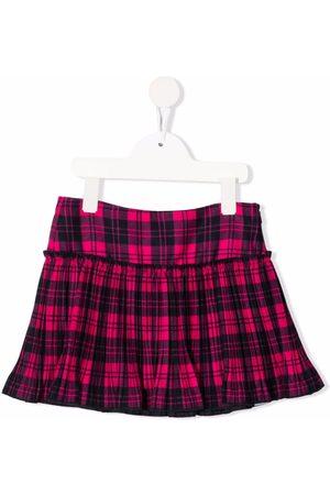 Il gufo Niña Faldas - Pleated tartan mini-skirt