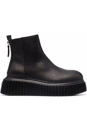 AGL ATTILIO GIUSTI LEOMBRUNI Sandy leather ankle boots