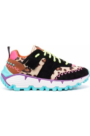 ETRO Animal-print lace-up sneakers