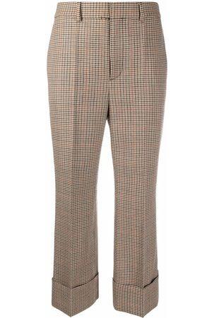 Dsquared2 Pantalones capri con motivo pied de poule
