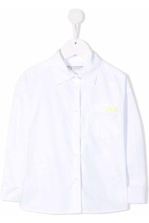 PHILOSOPHY DI LORENZO SERAFINI Embroidered-logo cotton shirt