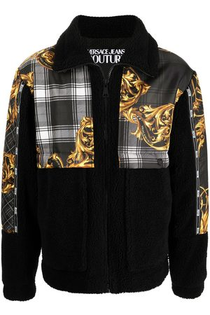 VERSACE Baroque-print zipped jacket