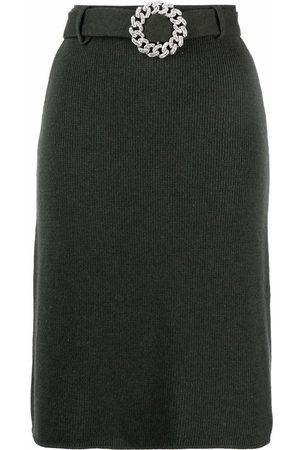 GIUSEPPE DI MORABITO Mujer Faldas - Falda con cinturón con hebilla