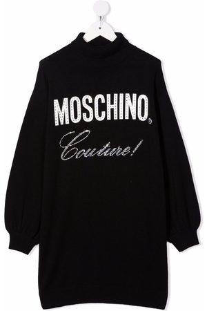Moschino Vestido con logo y strass