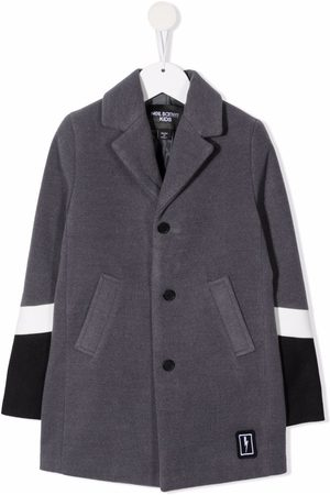 Neil Barrett Kids Colour-block single-breasted coat