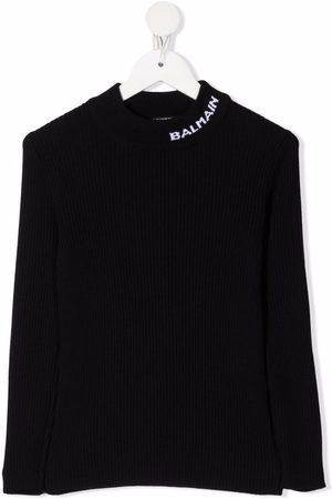 Balmain Logo-detail knitted jumper