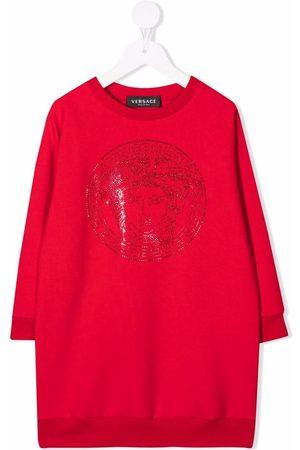 VERSACE Vestido estilo sudadera con logo Medusa
