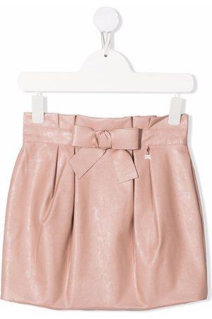 Elisabetta Franchi La Mia Bambina Mujer Minifaldas - Faux-leather mini skirt