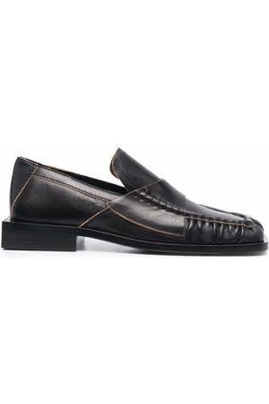 Acne Studios Square-toe block-heel loafers
