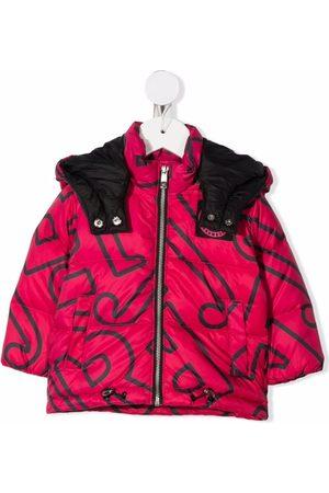 John Richmond Junior Niña De plumas - Logo-print puffer jacket