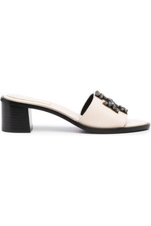 Tory Burch Mujer Sandalias - Ines embellished 55mm slide sandals