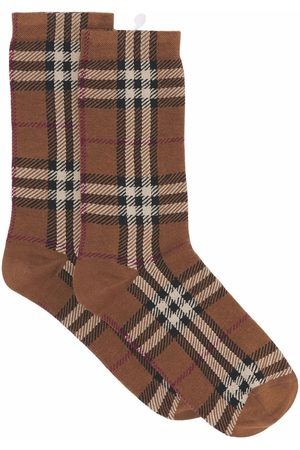 Burberry Calcetines - Check Cotton Cashmere Blend Socks
