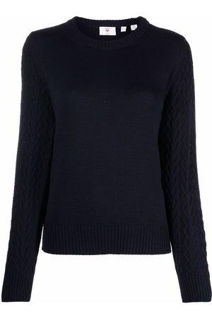 Rossignol Cable-knit U-neck top