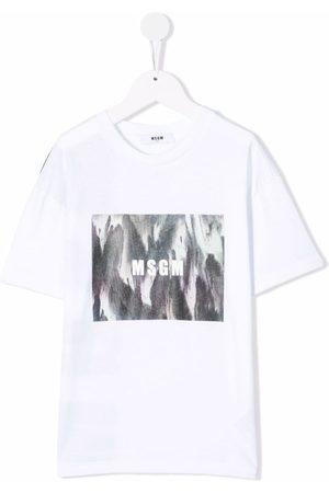 Msgm Niño Playeras - Graphic-logo print T-shirt