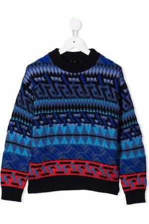 VERSACE Niño Suéteres cerrados - Intarsia-knit jumper