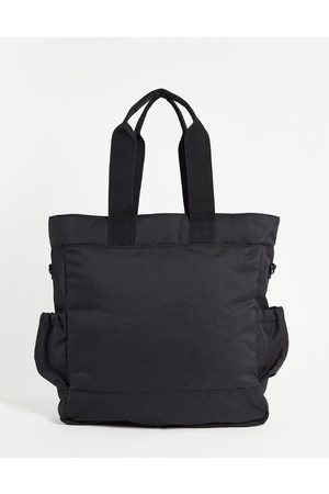 ASOS DESIGN Hombre Mochilas - Backpack tote hybrid bag in black nylon with double pockets