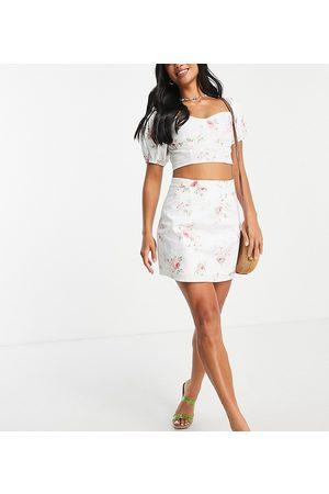 Miss Selfridge Mujer Estampadas - Poplin mini skirt in floral print