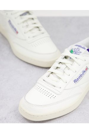 Reebok Classics Club C trainers with towelling details in chalk