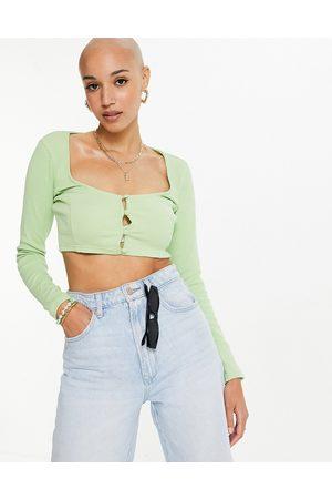 Skylar Rose Mujer Cárdigans - Cropped square neck cardigan in green