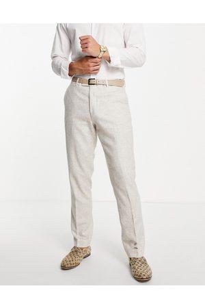 Harry Brown Hombre Slim y skinny - Wedding wool blend slim fit tweed suit trouser