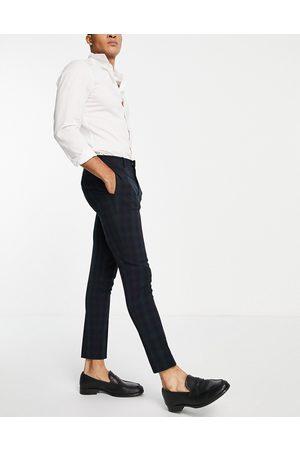 ASOS Super skinny suit trousers in blackwatch tartan