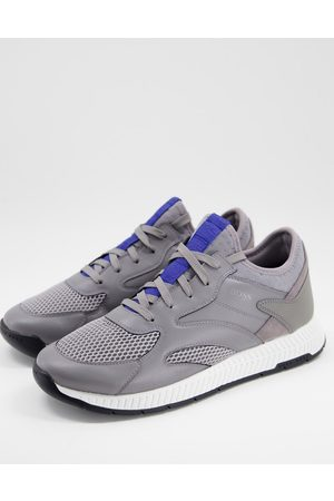 HUGO BOSS Hombre Tenis - Titanium Runn reflective detail trainers with lightweight sole in grey