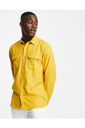 Levi's Hombre Casuales - Levi's jackson cotton hemp worker overshirt in yellow