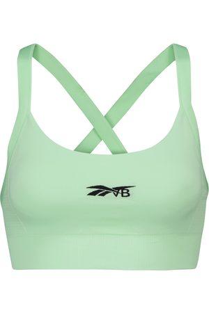 Reebok Crossover-back logo sports bra