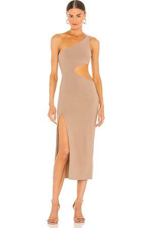 h:ours Mujer Midi - Vestido midi almira en color nude talla L en - Nude. Talla L (también en XXS, XS, S, M, XL).