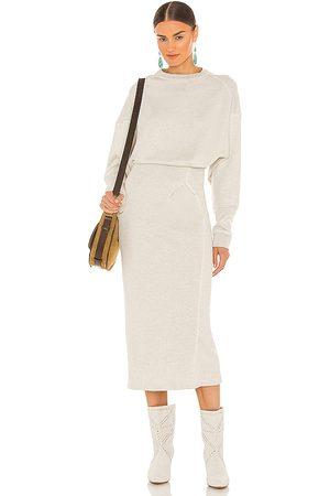 Isabel Marant Vestido midi meg en color gris claro talla 34/2 en - Light Grey. Talla 34/2 (también en 36/4, 38/6, 40/