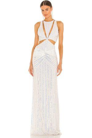 Retrofete Vestido millie en color blanco talla L en - White. Talla L (también en XS, S, M).