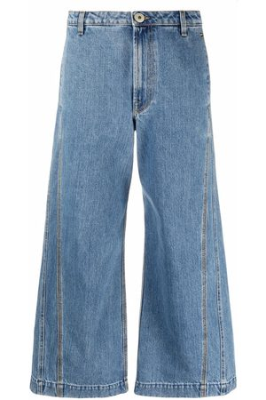 Lanvin Mujer Jeans - Jeans anchos con tiro alto