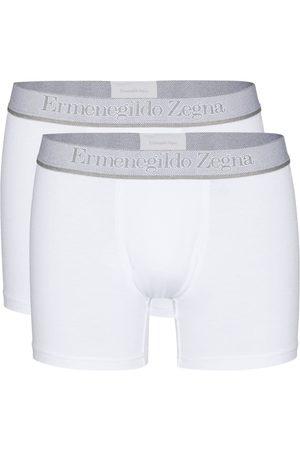 Ermenegildo Zegna Hombre Calcetines - Set de dos bóxeres con logo en la pretina