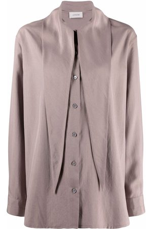 LEMAIRE Mujer Camisas - Tie neck button-front shirt