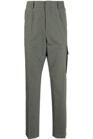 Paul Smith Grid-pattern pressed-crease trousers